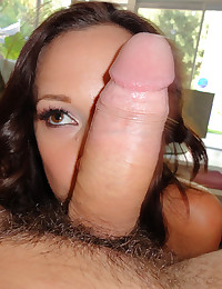 Young Brunette Sucks Huge Dick