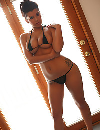 Itsy bitsy black bikini