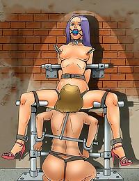 Cartoon bondage with hardcore...