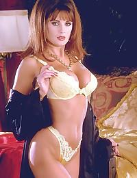 Glamorous chick striptease