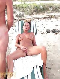 Overseen sex at nudist beach