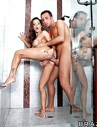 With her hot water on the fritz, Francesca heads next door in hopes of using the shower. Finding only her neighbor's son Keiran home alone, she convinces him to let her in, and then more than happily returns the favour. Showers have never been so dirty