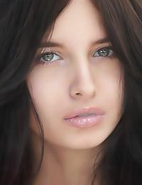 Erotic beauty in white linger...