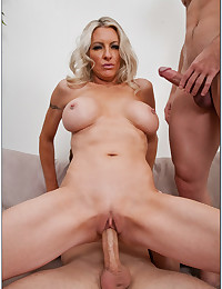 Blonde milf and two dicks