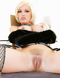 Fishnets girl in gangbang
