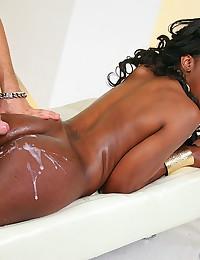 Ebony Goddess Nyomi Filled With Cock