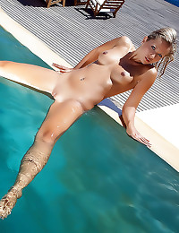 Jenni in the pool