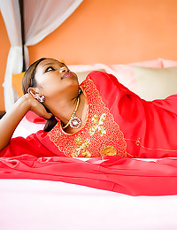 Red dress on Indian teen