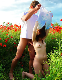 Perfect teen sex in a field
