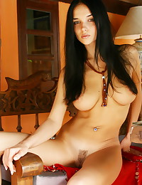 Katie Fey - Horny young gal seducing with her big hooters