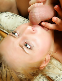 Gagging teen with dick