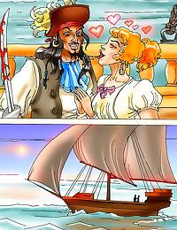 Pirate fucks slut in comic