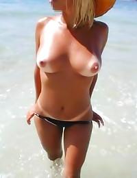Amateurs love to flash tits