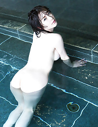 Haruka Nanami is getting all wet and slippery today.