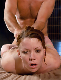 Blowjob and fuck for bondage girl