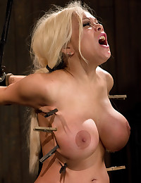 Bound big tits blonde