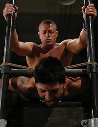 Muscular master fucks submissive