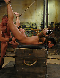 Muscular master fucks submissive