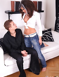 Little Caprice - Sweet freshie shows her fuckmate her classy makeup - and her sex skill