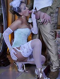 Gorgeous lingerie girl fucked