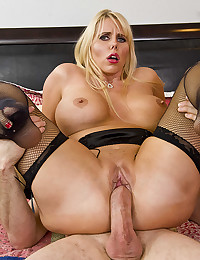 Blonde Cougar Karen Impaled On Cock