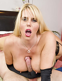 Blonde Cougar Karen Impaled On Cock