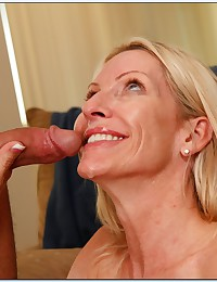 Blond Cougar Loves Sucking Cock