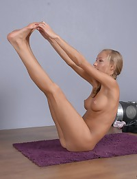 All fabulous talents of a nude yoga babe