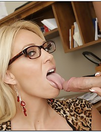 Gorgeous Blonde Cougar Charlee Jizzed On