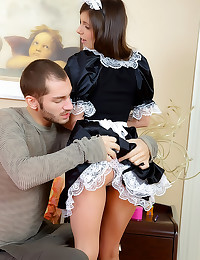 French maid fucked up ass