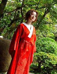 Japanese girl in a kimono