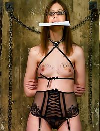 Nerdy girl hardcore BDSM sex