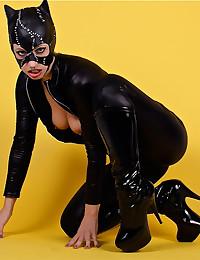 Leggy Lynn In Catwoman Costume