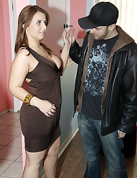 Big titty girl goes black