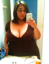 Fat girls do self shots