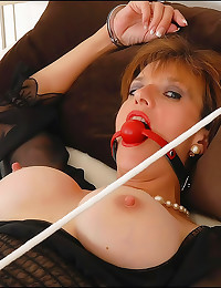 Milf in bondage and ball gag