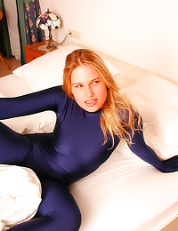 Spandex catsuit and lesbian f...