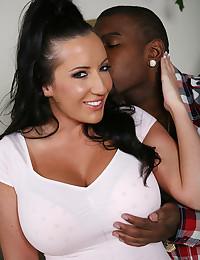 Black guy groping her