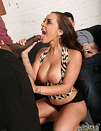 Horny Brunette Loves Black Cocks