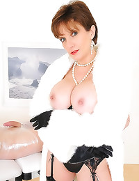 Milf in a fur coat