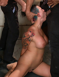 Horny Sex Slave Gets Many Cocks