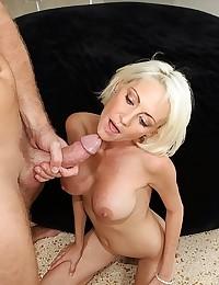 Leggy Blonde Mature Fucks Big Cock