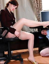 Pantyhose office girls lesbian sex