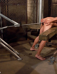 Gianni Luca gets fucked hard in bondage by a giant fucking machine.