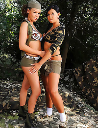 Two military girls lesbian sex