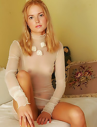 Sheer top on sensual teen
