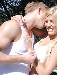 Gorgeous Blonde Carmen Sucks Thick Dick