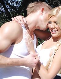 Gorgeous Blonde Carmen Sucks Thick Dick
