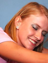 Blonde girl loves tasting a stranger his cum