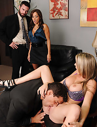 Office hardcore foursome is sizzling